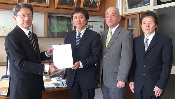 熊本地震の 様子を受け、 太田町長に 緊急提言