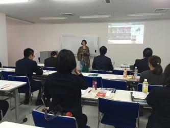 浜松商工会議所「プロモーション徹底支援講座・報告会」にて発表風景