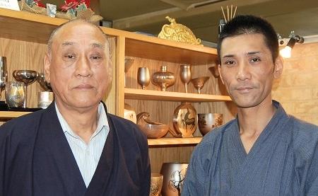 有限会社日伸貴金属 代表取締役 上川一男氏 取締役 上川善嗣氏