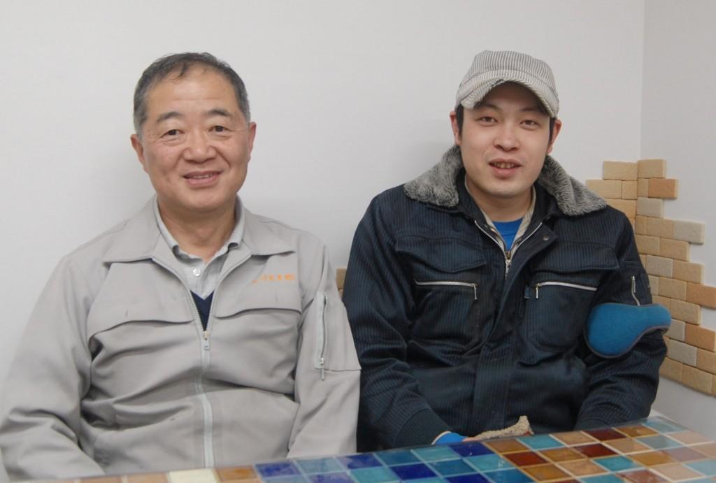 専務取締役 中島純二氏(写真左) 常務取締役 中島且貴氏(右)